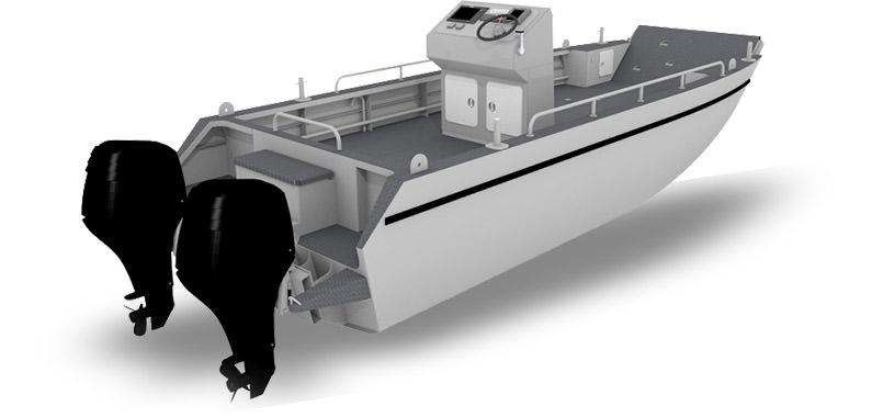 Coenen Aluminium Katamaran Landungsboot