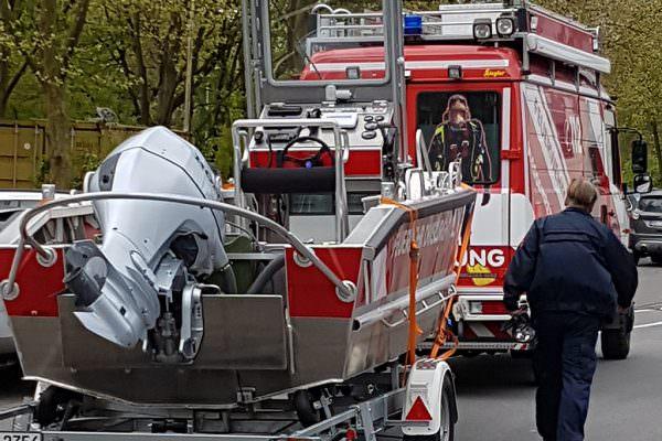 Feuerwehr Duisburg Taucherboot aus Aluminium