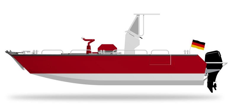 Coenen Aluminiumboot Konstruktion
